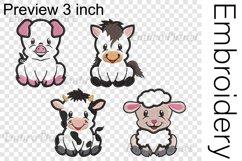Applique Farm Animals - Embroidery Files - 1473e Product Image 2