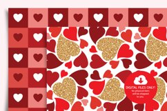 Valentines Day Digital Paper, Hearts Digital Paper Product Image 4