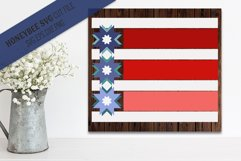 Stars and Stripes Modern Barn Quilt Product Image 1