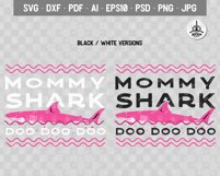 Retro Mommy Shark Print / Mothers Day T-Shirt, Family SVG Product Image 3