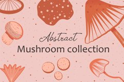 Abstract mushroom collection Product Image 1