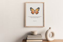 Boho butterfly print, Digital butterfly art and bible verse Product Image 5