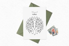 Floral digital stamps | Vintage flower clipart Product Image 4