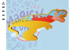 Layered DINOSAURE and TREX FONT Product Image 2