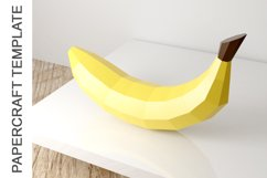 PDF Template of Banana fruit papercraft template /3d craft Product Image 4