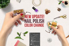 Sticker Mockup | Hand Sticker Mockup PSD | Nail Polish Updat Product Image 3