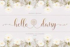 Hello Daisy - Flower Script Font Product Image 1