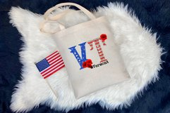 State abbreviation. USA sublimation. Vermont Product Image 3