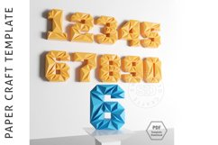 PDF Template Of 3D Numbers Papercraft / Lowpoly Numbers/ Product Image 3