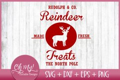 Reindeer Treats Christmas SVG EPS DXF PNG Product Image 1