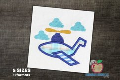 Aeroplane Embroidery Applique Designs Product Image 1