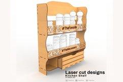 Kitchen shelf - Laser cutting File Product Image 2