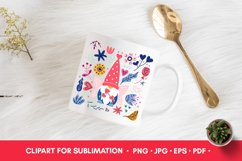 Valentine PNG Valentines Sublimation Gnome PNG Product Image 3