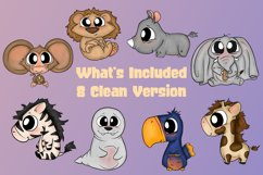 Baby Zoo Animal Bundle Emotions Cute Clipart  Animal Clipart Product Image 2