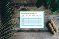 Weekly Planner Page, 4 Color Styles Canva Template Product Image 5