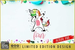 4th Birthday Unicorn SVG Product Image 2