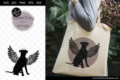 Boxer Dog #7 with Wings SVG, Pet Memorial, RIP Angel Product Image 1