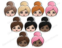 Mood 1 CUTE DOLLS Sweet Home Lady Boss Stickers PNG Files Product Image 5