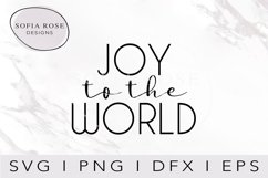 JOY to the WORLD SVG-Christmas SVG-Holiday SVG-Clip Art Product Image 1