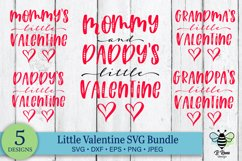 Mommy & Daddy's Little Valentine   Valentines Day SVG Bundle Product Image 1