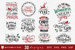 Christmas Bundle 30 designs SVG EPS DXF PNG Product Image 3