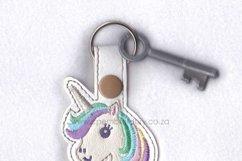 Unicorn Head Keyfob In the Hoop ITH Design Product Image 2