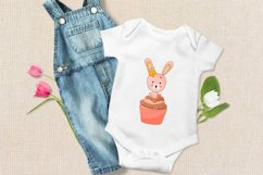Cute cartoon bunny clipart. PNG. Product Image 2