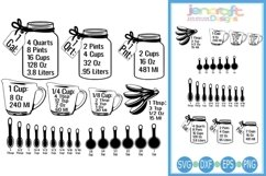 Conversion Chart Cheat sheet Kitchen SVG - Measurements Product Image 1