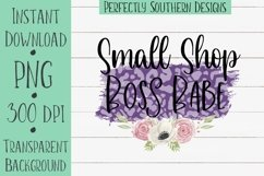 Small Shop Boss Babe Purple - Sublimation design Product Image 1