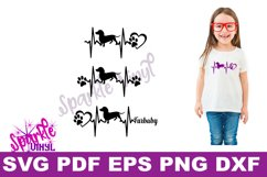Svg dachshund heartbeat dog print printable or cut file svg bundle dxf eps pdf png files cricut silhouette dachshund gift for dog lover dachshund Product Image 2