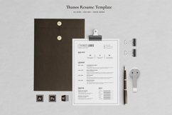 Thanos Resume with Cover Letter Professional Template Product Image 1
