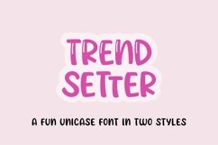 Web Font Trendsetter - a unicase craft font | Two styles Product Image 1