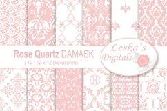 Pink Damask Digital Paper Product Image 1