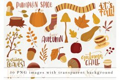 Hand drawn fall elements - autumn clipart, woodland elements Product Image 2