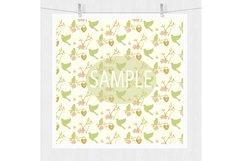 Gold Floral Digital Patterns - Digital Scrapbook Paper Product Image 5