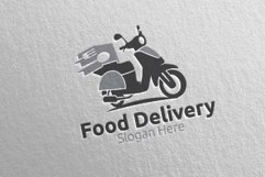 Scooter Fast Food Delivery Logo 7 Product Image 2