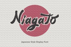 Niagato - Japanese Display Font Product Image 1