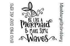 Be Like A Mermaid SVG   Mermaid SVG   Beach SVG   Summer SVG Product Image 1
