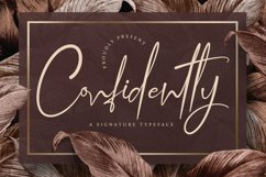 Confidently - Handwritten Script Font Product Image 1