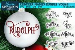 Reindeer Names Bundle Vol#2   Christmas SVG Bundle Product Image 1