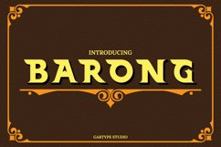 Barong Font and Bonus Product Image 1