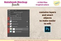 Notebook, planner, journal spiral mockup Product Image 2