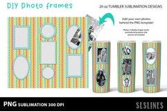 DIY Photo Frames PNGs - Tumbler Sublimation Designs 20oz Product Image 2