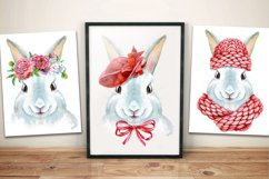 Watercolor white rabbit Product Image 2