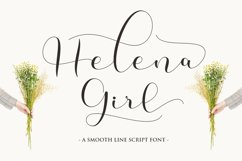 Helena Girl - a smooth line script Product Image 1