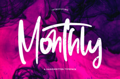 Web Font Monthly - Handwritten Typeface Font Product Image 1