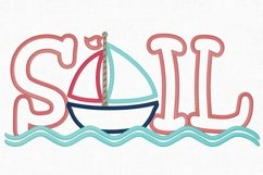 Sailboat Applique Embroidery Design 1275 Product Image 3