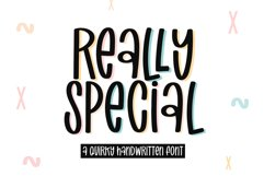 Really Special - A Quirky Handwritten Font Product Image 1