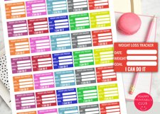 Weight Loss Tracker Stickers-Weight Planner Stickers Product Image 2