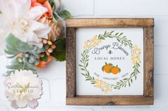 ORANGE BLOSSOM LOCAL HONEY - SVG, PNG, DXF and EPS Product Image 1